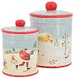 E-X Plätzchendose Keksdose Gebäckdose Aufbewahrung Weihnachten Tischdeko H 22,5 cm