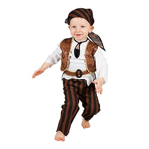Kostümplanet® Piraten-Kostüm Klein-Kinder lustiges Baby-Kostüm Seeräuber Größe 86 (Jungen Kleinkind Pirat Kostüm)