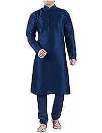 Men's Dupioni Silk Kurta Pyjama & Waistcoat