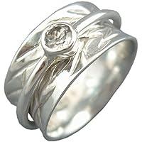"Energy Stone ""Krone Chakra"" 5mm facettiert Quarz klar silber Meditation Spinning Ring (Style # uka26-qz) preisvergleich bei billige-tabletten.eu"
