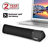 Avantree aptX Low Latency Laptop Lautsprecher, DSP mit Surround Sound, Bluetooth 4.2 Wireless Lautsprecher für TV, Super Bass Mini Soundbar für Phone, iPad, Mac, Tablets - Torpedo Plus
