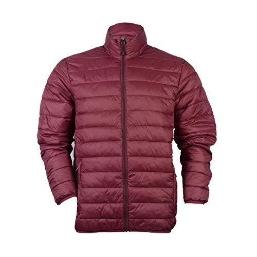 Hawke & Co Herren Men's Poly Packable Puffer Jacket Daunenalternative, Mantel, Wein, Mittel -