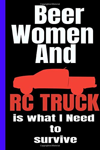 RC TRUCK: College Ruled 6x9 Inch 120 pages Line Note book Journal perfect appreciation and gratitude gift to make someone happy - Stand-gas-bereich