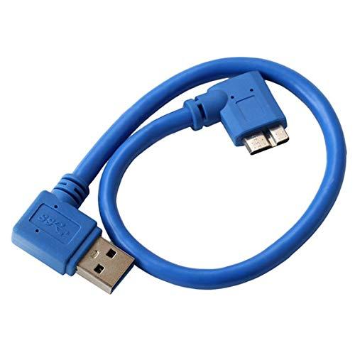 Preisvergleich Produktbild Noradtjcca 30cm 90 Grad rechtwinklig Micro B USB 3.0 Data Sync Ladekabel für USB 3.0 Mobile Festplatte