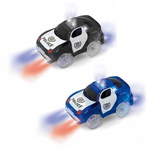 MIGE leuchten Spielzeug Auto Polizei Auto Spielzeug blinkende Lichter Glühen in der Dunkelheit Rennen Polizei Truck City Action Spielzeug mit den meisten Tracks, Jungen und Mädchen (Packung von (Kostüm Babys Auto Rennen Für)