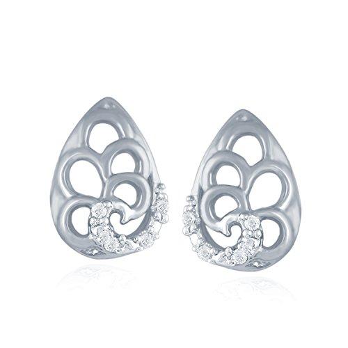 Giantti Diamant Mode Femme Boucles d'oreilles à tige (0,024CT, VS Clarté, Gh-colour)