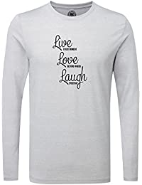 Just Another Tee Live Laugh Love Beyond Words Statement Men's Long Sleeve Shirt