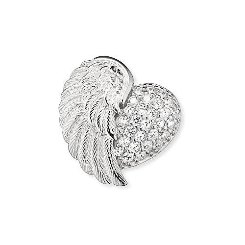Engelsrufer Herzflügel Armband für Damen 925er-Sterlingsilber Weiße Zirkonia Länge 16 cm + 2 cm