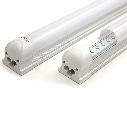 OUBO 120cm LED Leuchtstoffröhre komplett Set mit Fassung Neutralweiss 4000K 18W 1700lm Lichtleiste T8 Tube mit milchiger Deck