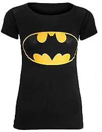 Love My Fashions Womens Ladies Batman Print T-Shirt - Black - S/M