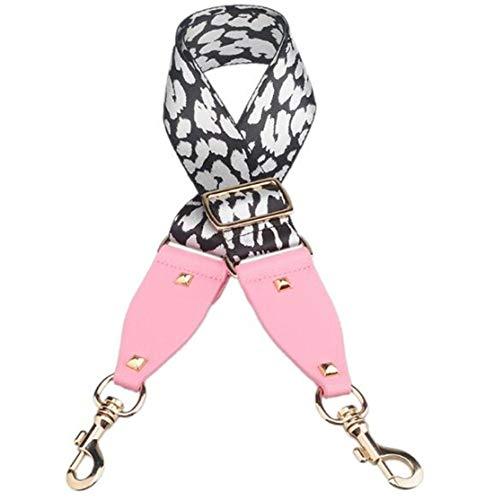 Stud Handbags Strap Adjust Bag Belts Dot Stripe Design National Gold Buckle Shoulder Straps Trendy Bag Accessories Q0102 WhiteDian Pink Double Stud Belt