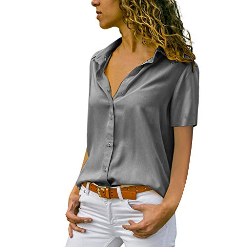 MORETIME Damen Oberteil Schulterfrei Lang Chiffon Solide T-Shirt Büro Plain Kurzarm Bluse grün bauchfreie blumen weiße bluse longbluse seidenbluse hemden festliche elegante schwarze