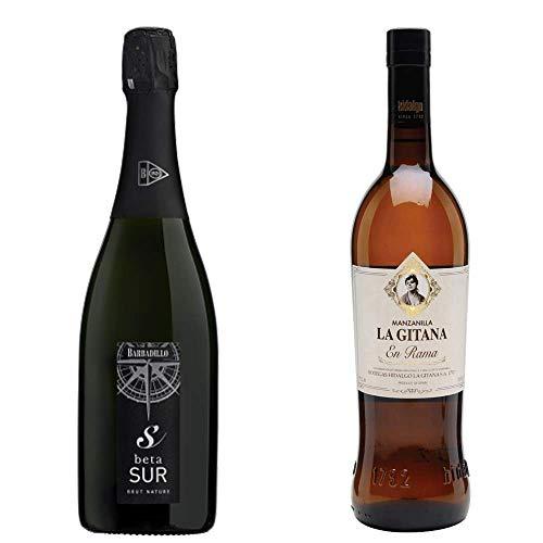 Beta Sur Y Manzanilla La Gitana En Rama -D. O. Vino De La Tierra De Cádiz Y Manzanilla De Sanlúcar De Barrameda - 2 Botellas De 750 Ml