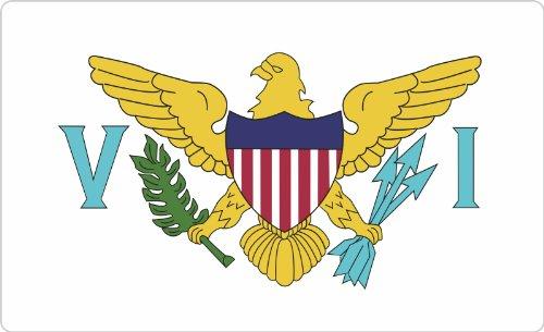 Flagge-aufkleber Für Amerikanische Auto Große (Aufkleber / Sticker / Flagge Amerikanische Jungferninseln / Virgin Islands - US 70 x 115 mm selbstklebend)