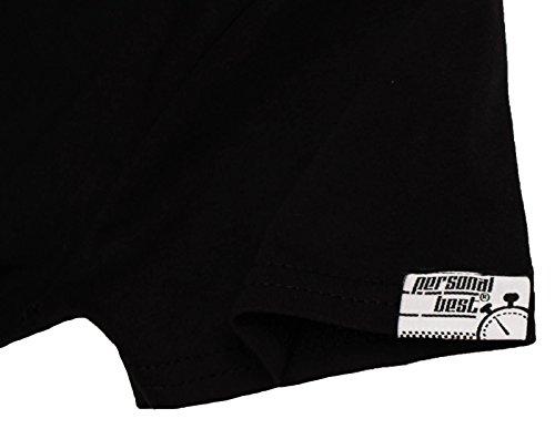 Personal Best Premium - T-shirt - Slogan - Manches Courtes - Femme Noir