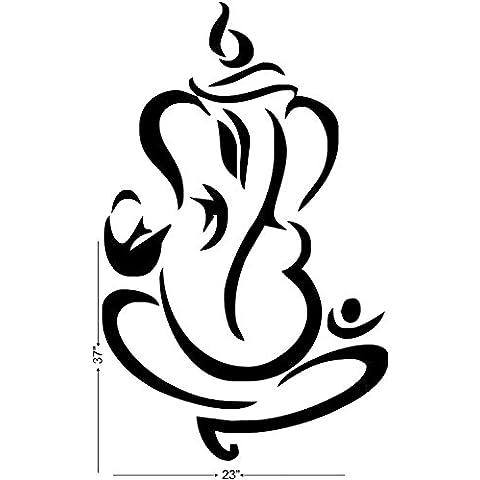 Briana Studio, motivo: Ganesha Line Vector-Adesivo da parete in vinile