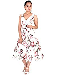Robe 40s 50s Swing Vintage Rockabilly Femmes Rétro Bal Grande Taille 10 - 28