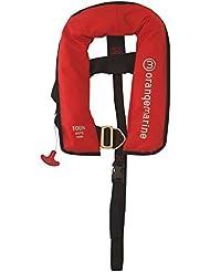 ORANGEMARINE Gilet de sauvetage enfant gonflable automatique avec harnais 100 N