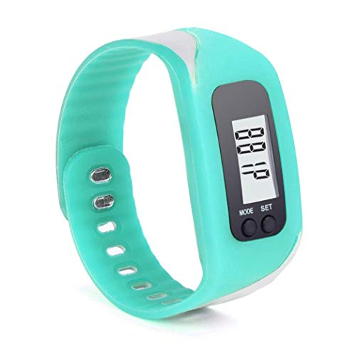 Ouneed® Uhren , Touch Screen LCD Weiß-LED Digital Uhr Quarzuhr Sportuhr Silikon Herren Damen Armbanduhr (Himmelblau)
