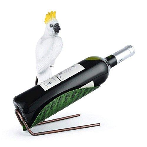 HAIZHEN Europäische Wrought Parrot Wein Rahmen Einzelne Flasche Wein Regal Weinschrank Ornament Dekoration Einfache Artwork TV-Schrank Weinregal Anzeige für Restaurant Bar Esstisch Stehen (Rack Einzelne Flasche)