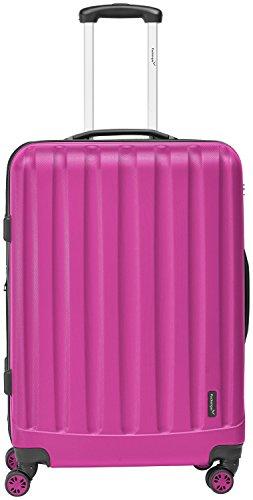 Packenger Velvet Koffer, Trolley, Hartschale  XL in Magenta.   50x34x23cm