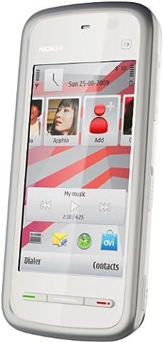 Nokia 5230 Navigation Edition Smartphone (UMTS, Bluetooth, GPS, 2 MP, Ovi Karten) white silver