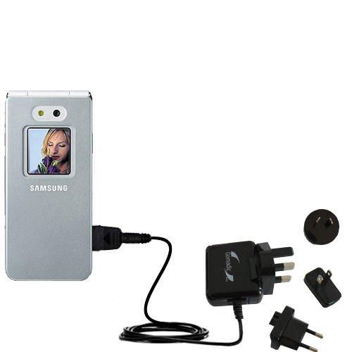 10W Gomadic Steckdosen-Ladegerät AC kompatibel mit Samsung SGH-E870 mit Energiesparmodus und TipExchange