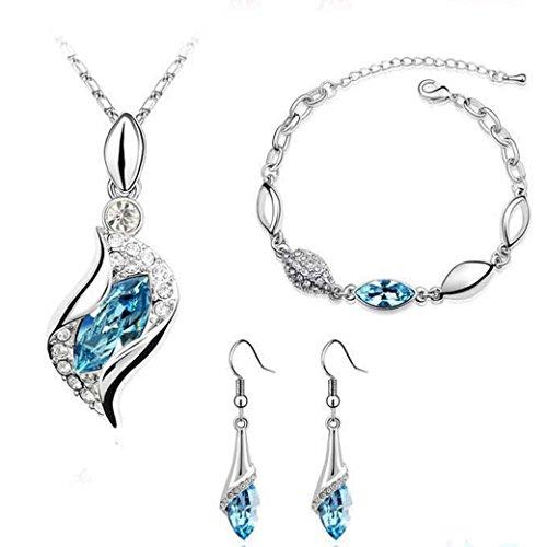 Mujers Pendientes,Xinan Joyería Pendiente de la Pulsera de los Pendientes de Gota (Cielo Azul)