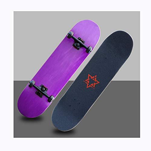 YXLZZO Skateboard-jugendlich Erwachsen-Anfänger-Versammlungs-Brett-Bürsten-Straßen-doppeltes Skateboard (Farbe : D)