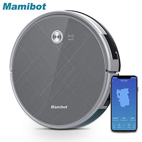 Mamibot EXVAC660 Staubsauger Roboter mit 2000Pa mit WiFi APP-Steuerung Automatisches Aufladen Wisch- und Kehrroboter Perfekt für die Reinigung harter Tierhaarteppiche böden