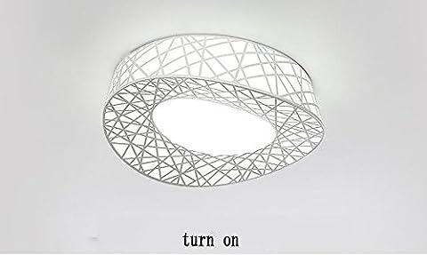 LightSei EU Oval Nest Plafond LED atmosphérique Salon Lampe Chambre Lampe étude Creative moderne Minimaliste restaurant Lumières ( Couleur : 65*56 Cm LED White Light )