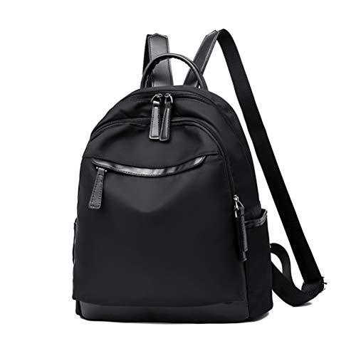 HEIMIAOMIAO Damentasche Wasserdichter Oxford-Stoffrucksack Lady Travel Mobile Organizer Schultasche für Teenager, schwarz -