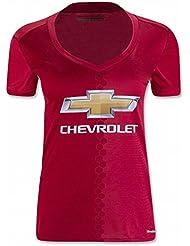 Nom et Numéro 20162017Manchester United FC DIY Home Jersey de Football de football en rouge pour femme