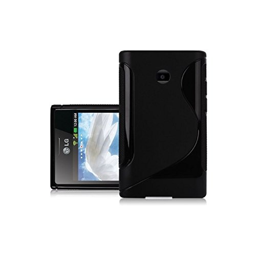 Top-Zubehör S-line Silikon Case Schutzhülle FÜR LG Optimus L3 E400