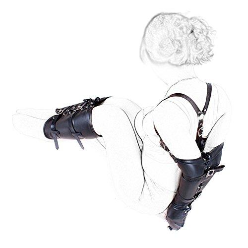 OnundOn Leder Hand und Fuß Fesseln SM Fesselset (Körper-handschuh-leder-handschuhe)
