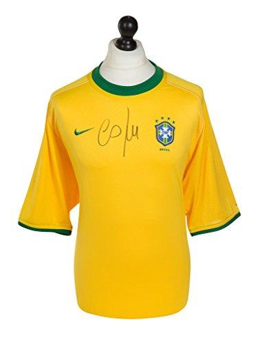 Cafu-Signed-Shirt-Autograph-Brazil-2000-Brasil-Jersey-Genuine-Memorabilia-COA
