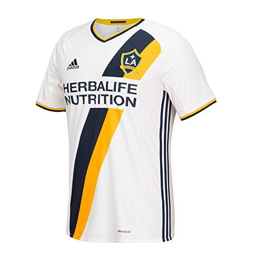 adidas MLS Los Angeles Galaxy Giovani DOS Santos Short Sleeve Replica Jersey, Größe XXL, weiß - Galaxy Jersey