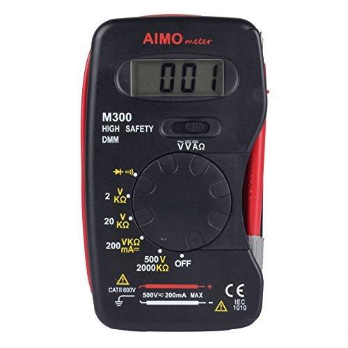 AIMOmeter M300 Tasche Messgerät Handheld Digital Multimeter DMM DC AC Amperemeter Voltmeter Handmessgeräte mit Dioden- und Durchgangsprüfung