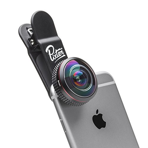 Pixter Objectif Super Fisheye Pro 238°, Compatible Tout Smartphone, Android et iOS : iPhone/Samsung/Huawei/Sony/Honor/OnePlus