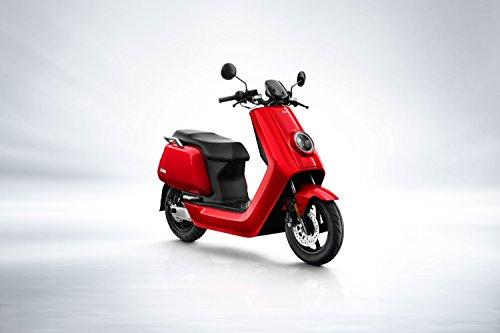 NIU n1s Scooter elettrico e scooter-Panasonic batteria agli ioni di litio-80km portata-BOSCH Motor-45km/H-a Due Posti//offerto von rollingbull (Rosso)
