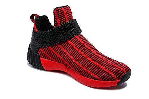 Onemix Damen Herren Sneakers Mid-Top Sportschuhe Fitnessstudio Turnschuhe Laufschuhe Freizeit Unisex Schuhe Rot
