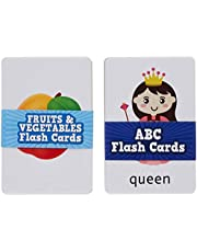 Amazon Brand - Solimo My Very First Flash Cards (Set of 2, ABC, Fruits & Vegetables)