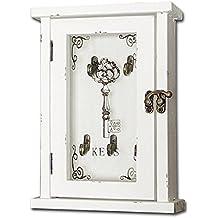 Llaves armario de llaves con estilo Retro de madera blanco 25x 17cm