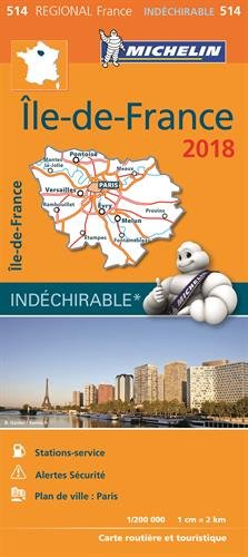 Carte Ile-de-France Michelin 2018