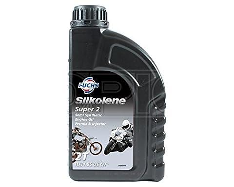 Silkolene SUPER 2 Semi-Synthetic 2-Stroke Engine Oil - Premix & Injector - 600757328 - 1 Litre