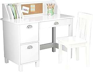 KidKraft Schreibtisch mit seitlichen Schubladen weiß