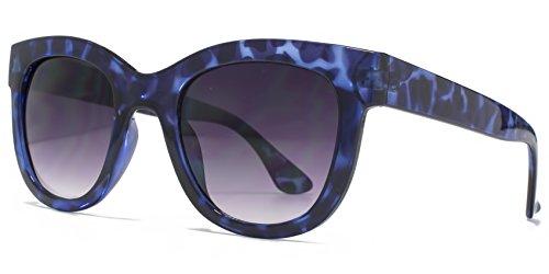 M:UK Hoxton Chunky D Frame lunettes de soleil en écaille violet MUK147856 One Size Gradient Grey DC5Xsoi