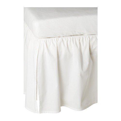 IKEA Babybett-Volant LEN Bettvolant zum Verhängen des Bettgestells von Babybetten - 60x120 cm - waschbar bei 60 Grad - 100{e1b69a1cc4c0e205ba2041e608110199bdb959a1b55f98e24ddf130f5ffb1f92} Baumwolle (Rock) - weiß