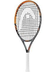 """Head Radical Jr - Raqueta de tenis, color negro/ naranja, talla 23 """""""