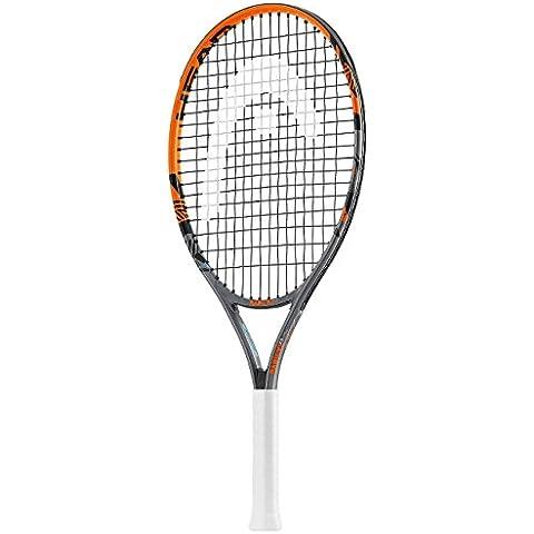 Head Radical Jr - Raqueta de tenis, color negro/ naranja, talla 23